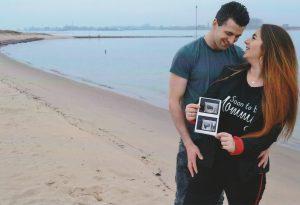 Aankonding geboorte kind Anrico en Chantal